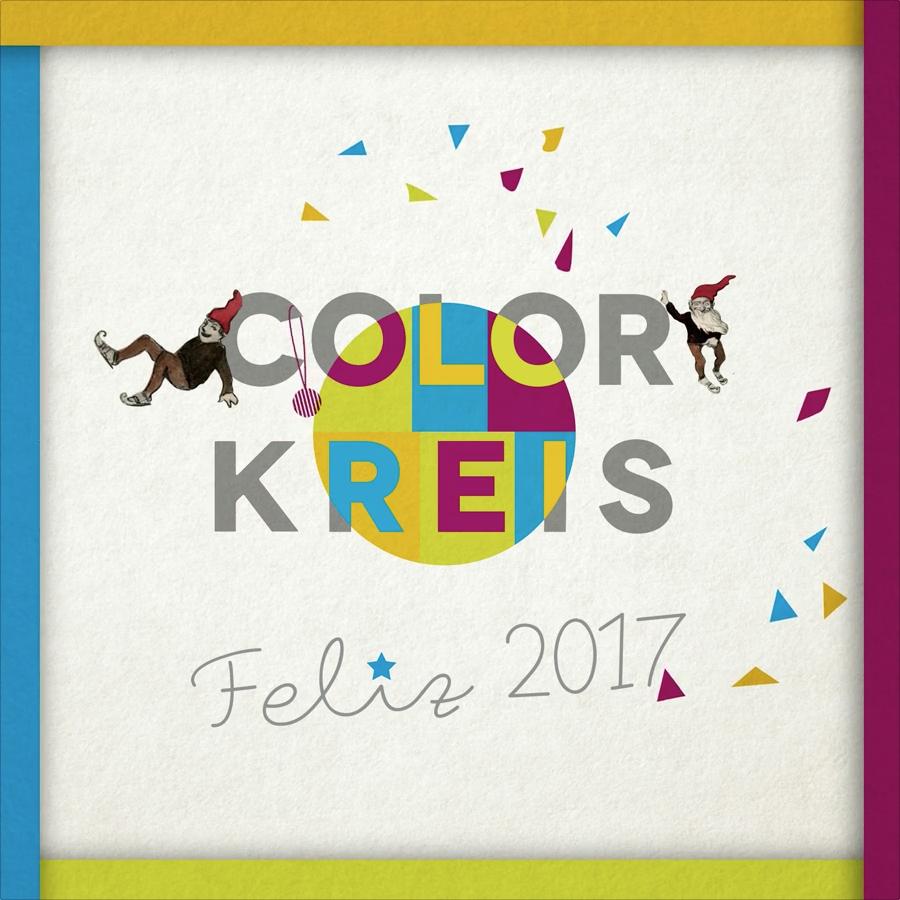 Colorkreis os desea Feliz 2017 con este Christma